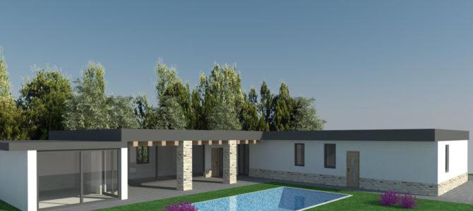 Villa in Legno con Piscina